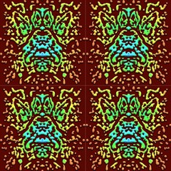 Abstract Scarab By Paysmage Fabric