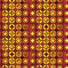 Quatrefoil Japanese Gold Yellow Orange Fabric
