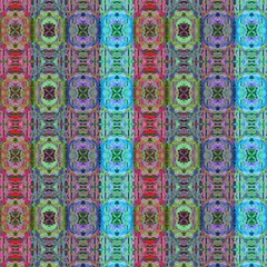 Tibet Inspiration Tiles Multicolor By Paysmage Fabric