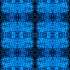 Checks Of Blue 2 By Designsdeborah Fabric