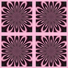 Pink And Black Flower By Designsdeborah Fabric