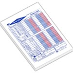 Yatzee triple score sheet - Large Memo Pads