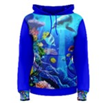 Dolphines at the Coral Reef woman - Women s Pullover Hoodie