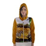 African Fantasy Womens hooded windbreaker - Women s Hooded Windbreaker