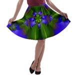flower from the jeweled garden a-line skater skirt