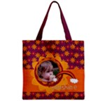 Sunshine Rainbow Flowers- Grocery Tote Bag