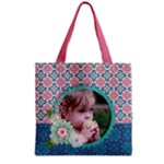 Mandala - Boho - flowers - Grocery Tote Bag