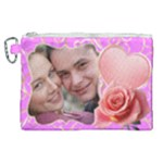 Pink Sweet love Canvas Cosmetic Bag (XL)