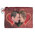 Our love Heart Canvas Cosmetic Bag  (XL) - Canvas Cosmetic Bag (XL)