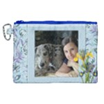 My wild blue iris Canvas Cosmetic Bag (XL)