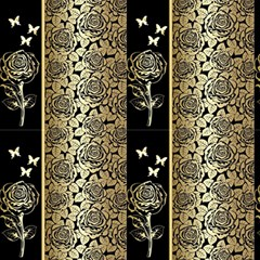 Gold Rose Background Vector 293023 Fabric