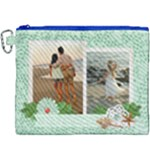 Beach Memories - Tropical Vacation Canvas Cosmetic Bag XXXL - Canvas Cosmetic Bag (XXXL)