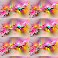 Background Rainbow Colorful Splash Colors Bright Painting Fo Fabric