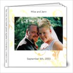 Mike and Jenn Wedding - 8x8 Photo Book (20 pages)