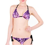 purple crackle bikini - Bikini Set