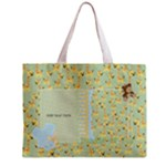 Oh Baby, Baby-Boy Medium Zipper Tote Bag - Zipper Medium Tote Bag