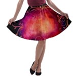 Pink Colored Swirl Skirt - A-line Skater Skirt