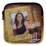 Red wine Mini Square Pouch