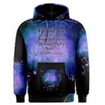 Blue Colored Swirl Men s Hoodie- Psalm 139:14 - Men s Core Hoodie