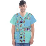 DOFM M scrub - Men s V-Neck Scrub Top