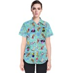 DOFM F button shirt 1 - Women s Short Sleeve Shirt