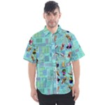 dofm m button shirt - Men s Short Sleeve Shirt