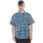 Daisy Button Up - Men s Short Sleeve Shirt