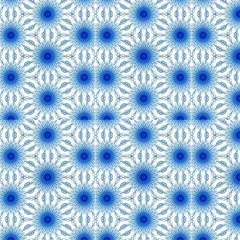 Digital Blue Flowers Fabrics