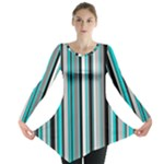 Aqua Stripes Long Sleeve - Long Sleeve Tunic