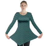 Aqua Mickey Long Sleeve - Long Sleeve Tunic