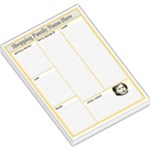 YELLOW SHOPPING MEMO PAD - Large Memo Pads