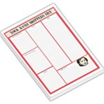 RED SHOPPING LIST - Large Memo Pads