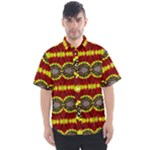 TriColor Chrysanthemum Pattern 17 Men s Short Sleeve - Men s Short Sleeve Shirt