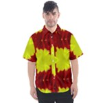 Red Yellow Chysanthemum Pattern Number 2 - Men s Short Sleeve Shirt