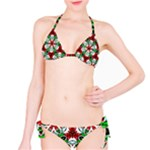Red and Green Pattern 1 Two Piece Bikini - Classic Bikini Set