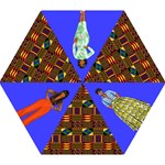 African Print - Mini Folding Umbrella