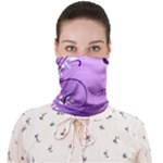 Purple swirl face bandana - Face Covering Bandana (Adult)