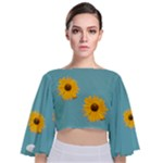 Sunflower TOP - Tie Back Butterfly Sleeve Chiffon Top