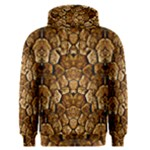 Brown Snakeskin Texture Artistic Pattern Number 6 - Men s Core Hoodie