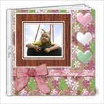 Pretty Pink and Green Baby Girl Kid Book - 8x8 Photo Book (20 pages)
