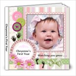 Cheyenne 1st Year Book - 8x8 Photo Book (20 pages)