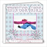 winter girl quick page book - 8x8 Photo Book (20 pages)