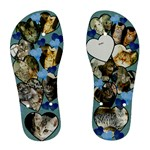 flip flop blue cats - Women s Flip Flops