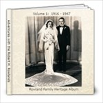 Rowland Heritage Book - 8x8 Photo Book (39 pages)