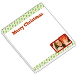 Merry Christmas Hollies Header & Footer - Small Memo Pads