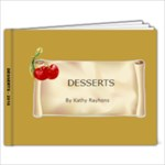 Recipe Book Desserts - 9x7 Photo Book (20 pages)