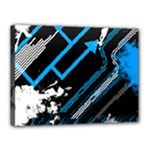Retro Blue by iJoshsubscribed - Canvas 16  x 12  (Stretched)