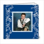 Blue Swirls 6 x 6 book - 6x6 Photo Book (20 pages)