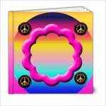 peace love groovy 6x6 template book - 6x6 Photo Book (20 pages)