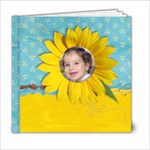 6x6 Summer/Sunflowers Album - 6x6 Photo Book (20 pages)